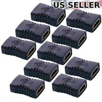 10x HDMI Female To Female Extender Adapter Coupler Connector Fit HDTV 1080P LOT