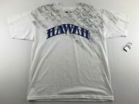 NEW O'Neill Hawaii Over Powered Men Large L White Graphic T-Shirt Short Sleeve
