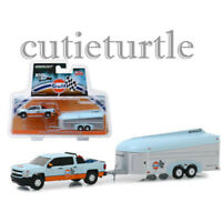 Greenlight Hitch & Tow Gulf 2017 Chevrolet Silverado with Aerovault 1:64 51243