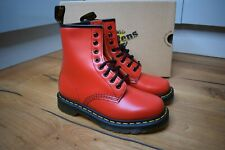 Dr Martens 1460 Womens Red Vintage Smooth boots Size UK 4 EU 37 US 6 Classic