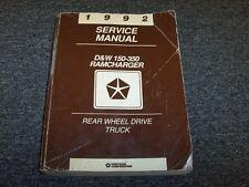 1992 Dodge Ram 150 250 350 Pickup Truck Shop Service Repair Manual S SE LE V6 V8