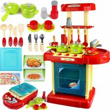 rtable Red Electronic Children Kids Kitchen Cooking Boy Toy Cooker Play Set X3P6