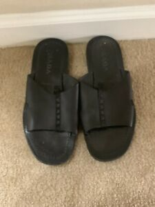 Mens Prada Leather Slippers Size 8