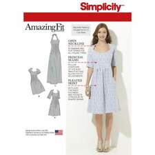 Schnittmuster Simplicity 7599 hübsches Damenkleid Gr. AA 10-18 (de 36-44)