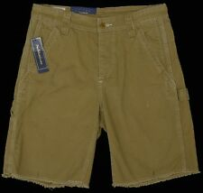 Men's POLO RALPH LAUREN Military Style Tan Brown DRILL Shorts 34 NWT NEW Hot!