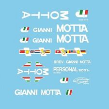 Gianni Motta Bicycle Decals, Transfers, Stickers- White n.3