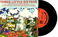"THREE LITTLE KITTENS - 8-TRACK EP 7"" 45 VINLY RECORD PIC SLV 1966"