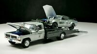 1969 Trans Am Mustang / Ford F-350 Ramp Truck 1/64 Scale Diecast Real Riders Set