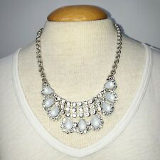 Abercrombie & Fitch Necklace Statement Wedding Prom Teardrop Victorian A&F White