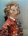 Abstract Portrait Mozart Classical Music Painting Knife Fine Wall Art Print