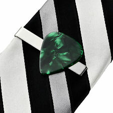 Green Guitar Pick Tie Clip - Tie Clasp - Business Gift - Handmade - Gift Box