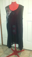 Verge Black see through Tunic Size 18 New Zealand designer