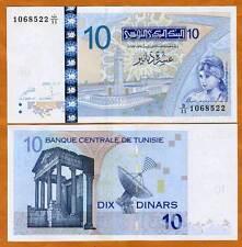 Tunisia 10 Dinars, 2005 Issue UNC