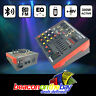 300W Powered Audio Mixer 4Ch Bluetooth USB PC Soundcard Record Radio EQ Phantom