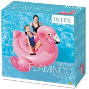 Intex Inflatable Giant Flamingo Ride On Beach Toy Swimming Pool Float 1.42m
