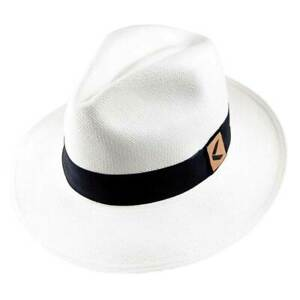 Toquilla Straw Panama Hat Ecuador Handwoven - Fedora Style with Gift Bag and Box