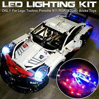 Kit de iluminación con luz LED DIY para ladrillos Lego 42096 Technic Porsche 911