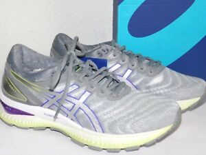 NEW WOMENS 8.5 WHITE/PURE SILVER ASICS GEL NIMBUS 22 RUNNING SHOES SNEAKERS $150