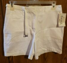 Basic Edition Solid White Cotton Shorts Size 12 New With Tags