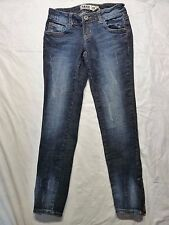 Zanadi Denim Blue Jeans Skinny Size 0 Stretch Zipper Cuffs