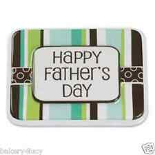 NEW POP TOP LAYON HAPPY FATHERS DAY DAD CAKE TOPPER DECORATION CUPCAKE STRIPES