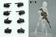 Tomytec Figma - LittleArmory-OP3: figma Tactical Gloves Hands (Stealth Black)