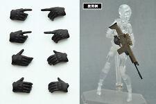Tomytec Figma - LittleArmory-OP3: figma Tactical Gloves Hands (Stealth Black)