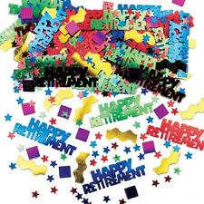 Metallic Multicolour Happy Retirement Party Table Confetti Decorations Sprinkles