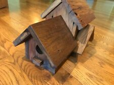 Rustic Multi-dwelling Condo Bird house. Handmade. Wooden Bird house.