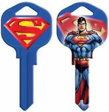 "SUPERMAN "" MAN OF STEEL "" House Key Blank SCHLAGE SC  DC COMICS MARVEL ACTION"