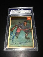 Bob Chrystal Signed 1954-55 Parkhurst Rangers Rookie Card PSA Slabbed #83426963