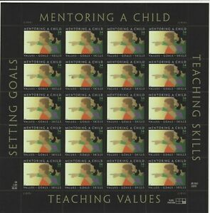USA 2002 MNH  FULL SHEET MENTORING A CHILD - CHILD AND ADULT
