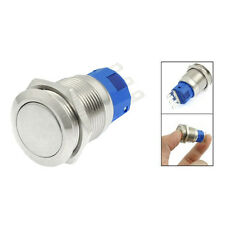 SPDT 19mm Stainless Steel Round Latching Push Button Switch 3 Pin 5A 250V AC LW