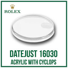 ♛ ROLEX Acrylic Crystal With Cyclops 135 High Quality For Rolex DateJust 16030 ♛