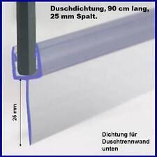 Duschdichtung für 5-6mm Duschtrennwand unten, 90 cm lang, Höhe der Lippe 25mm