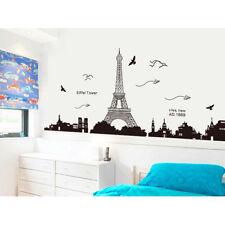 Removable Paris Eiffel Tower Vinyl Art Decal Mural Home Room Wall Sticker Decor