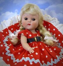 "VINTAGE HARD PLASTIC STRUNG HTF SQUARE DANCER ""ELLIE"" GINNY DOLL BY VOGUE 1952"
