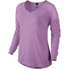 Nike Women's Relay Long Sleeve Running Top Shirt Dri-Fit 659997-577 Size Small