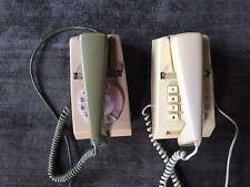 2 Vintage BT Trimphones - 2 Tone Green Working / Cream Push Button Not Working