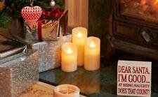 Transomnia Moving Flame LED Wax Candle White Large