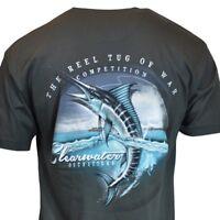 "Clearwater Men's T-shirt ""THE REEL TUG OF WAR"" Fishing Sailfish Sailing Bahama"