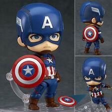 Nendoroid 618 Avengers Cute CAPTAIN AMERICA Hero's Edition Action Figure Toy