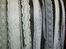 10m white ribbon and lace. See description