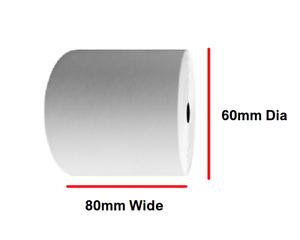 100 ROLLS 80x60mm PDQ THERMAL PAPER TILL ROLLS CASH REGISTER RECEIPT