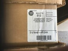 NEW ALLEN BRADLEY 512-BAB-6P-24R NEMA COMBINATION STARTER DISCONNECT TYPE NEMA 1
