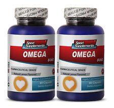 Triple Omega - Fish Oil Omega-3-6-9 3000mg - Super Fat Burner Supplements 2B