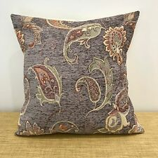 "16""/18"" Textured Tapestry BLUE/GREY & GOLD Floral Cushion Cover. Made Australia"