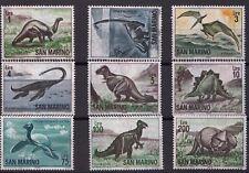 1965 Serie Dinosauri Preistorici 9 Valori Nuova MNH San Marino Catalogo 690-8