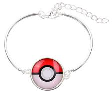 Pokemon glass cabochon Tibet silver  Fashion charm bangle  bracelets