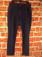 CHRISTOPHER &  BANKS MODERATELY CURVY TAPERED LEG JEANS 14W NWT!! DARK BLUE